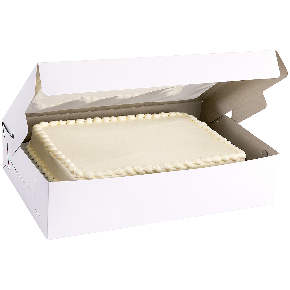 White Window Sheet Cake Box, 21in x 14in Image #1