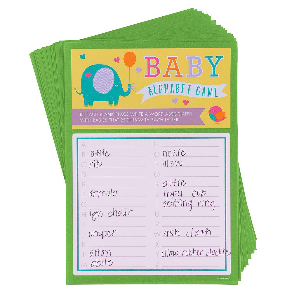 Alphabet Baby Shower Game Party City