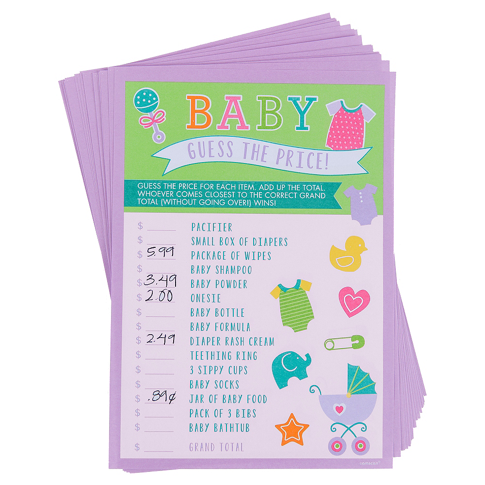 Guess The Price Baby Shower Game Party City