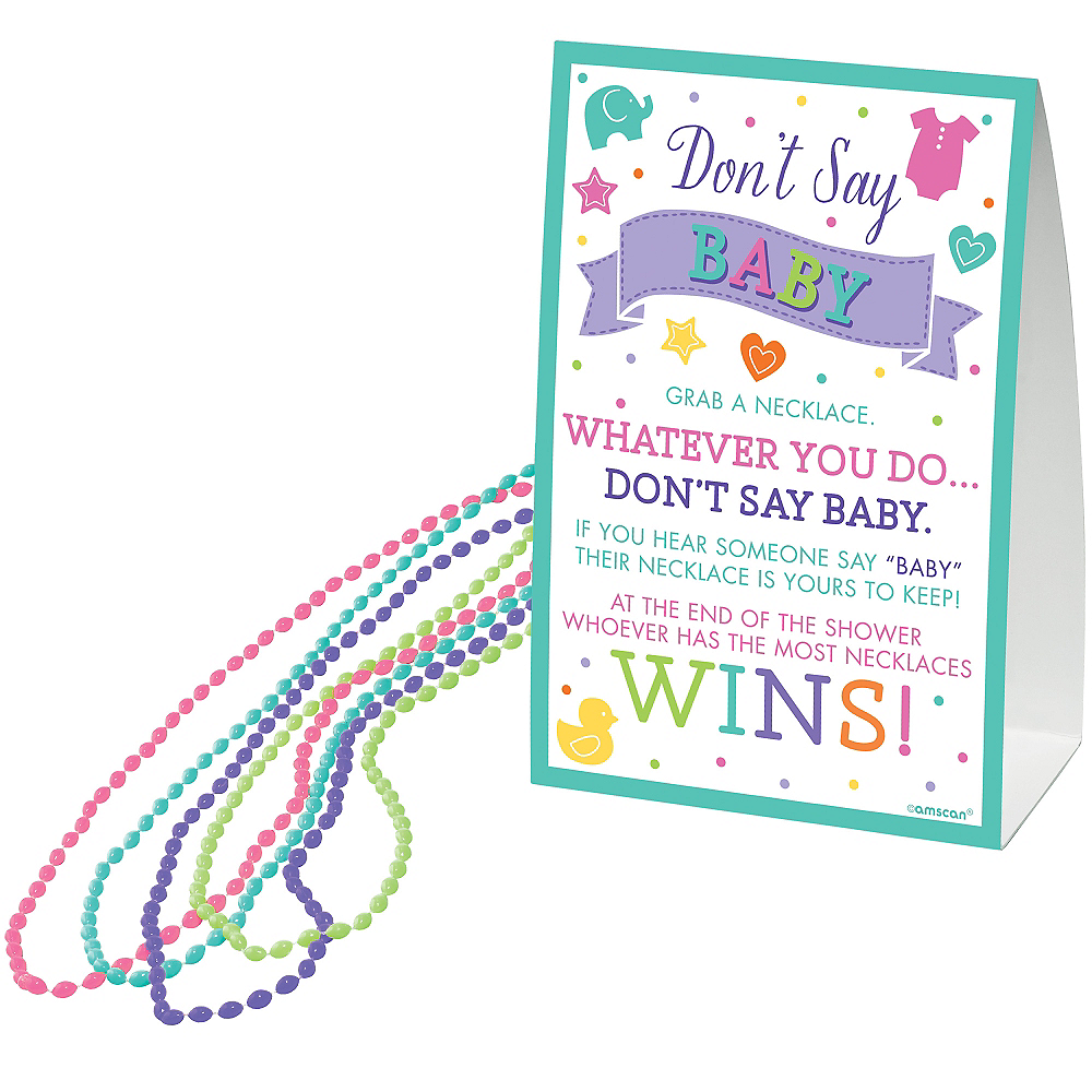 Don't Say Baby Bead Necklace Baby Shower Game