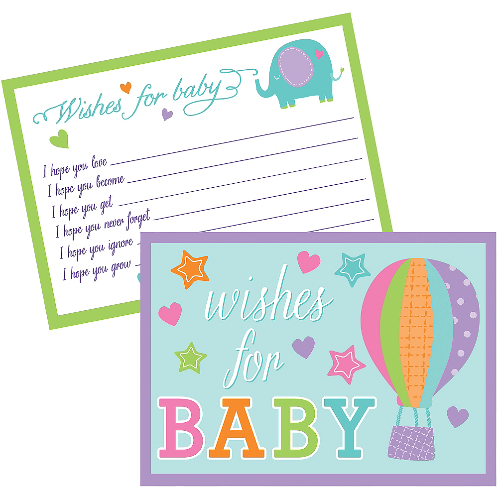 Baby Shower Wishes for Baby Cards 24ct Image #1