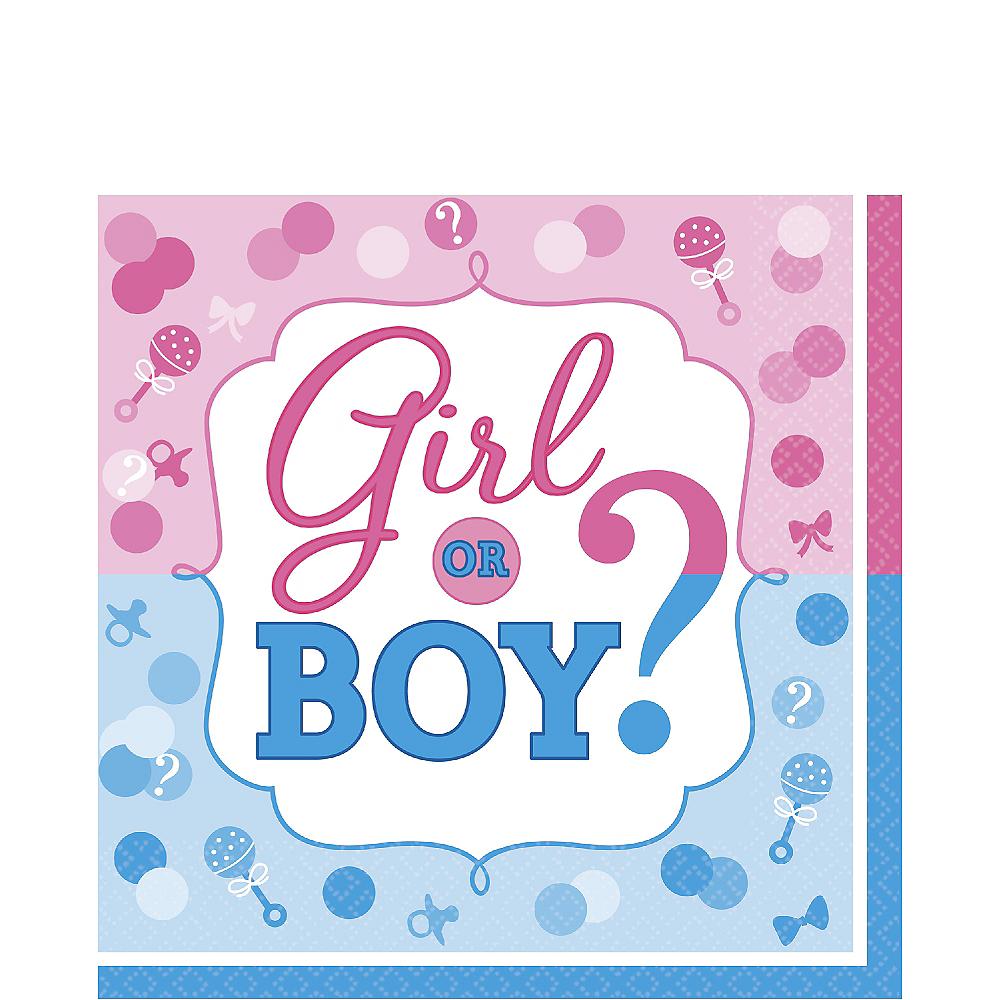 Girl or Boy Gender Reveal Lunch Napkins 16ct Image #1