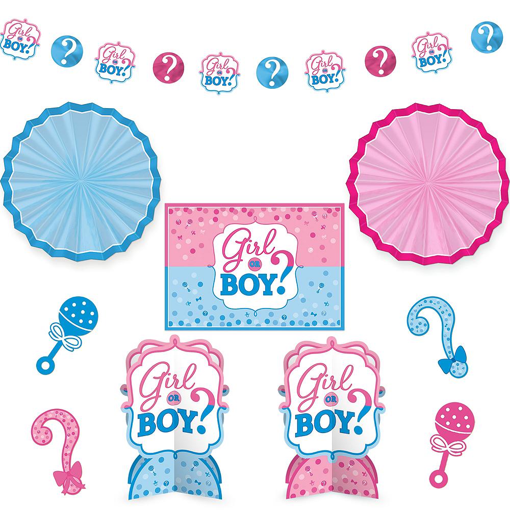 Girl or Boy Gender Reveal Room Decorating Kit 10pc Image #1