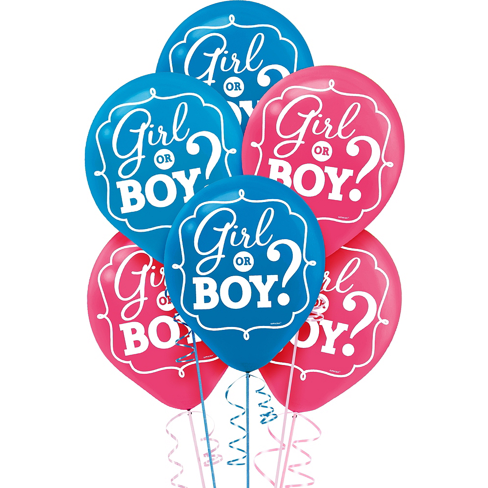 Girl Or Boy Gender Reveal Balloons 15ct Image 1