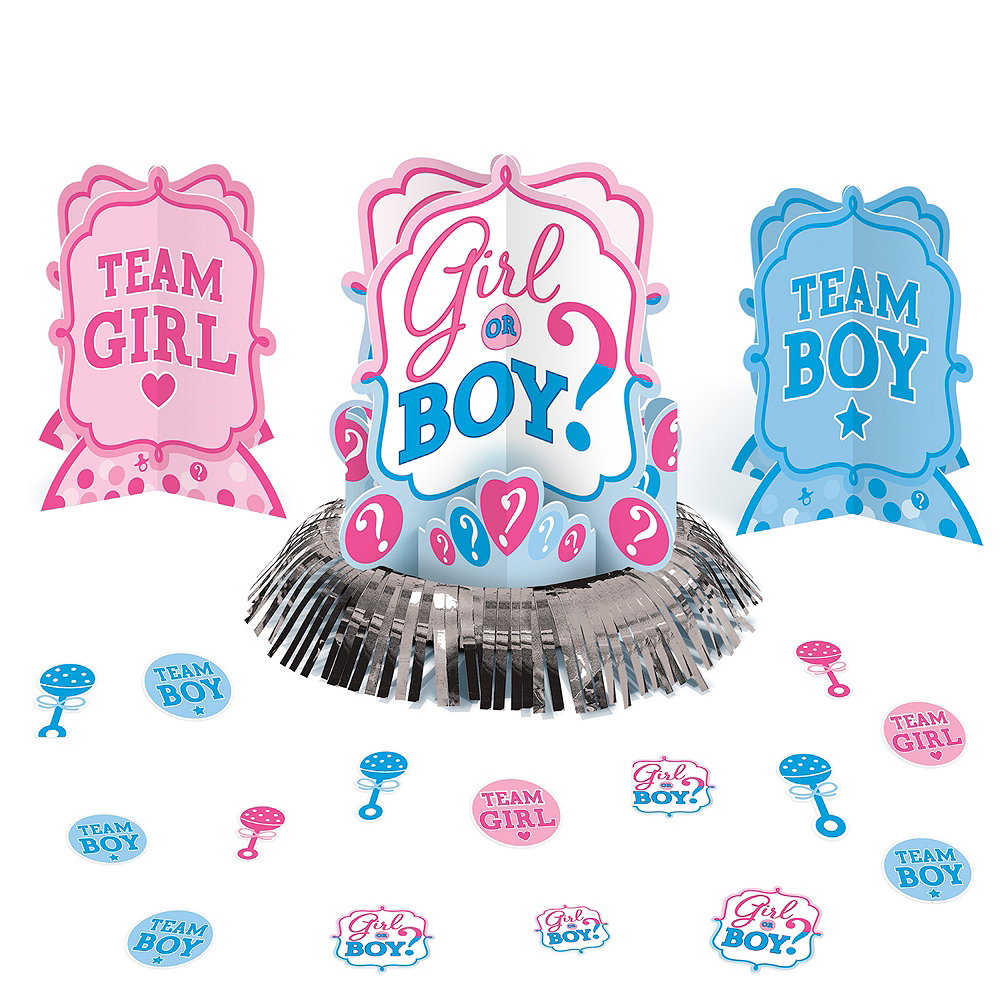 Girl or Boy Gender Reveal Table Decorating Kit 23pc Image #1
