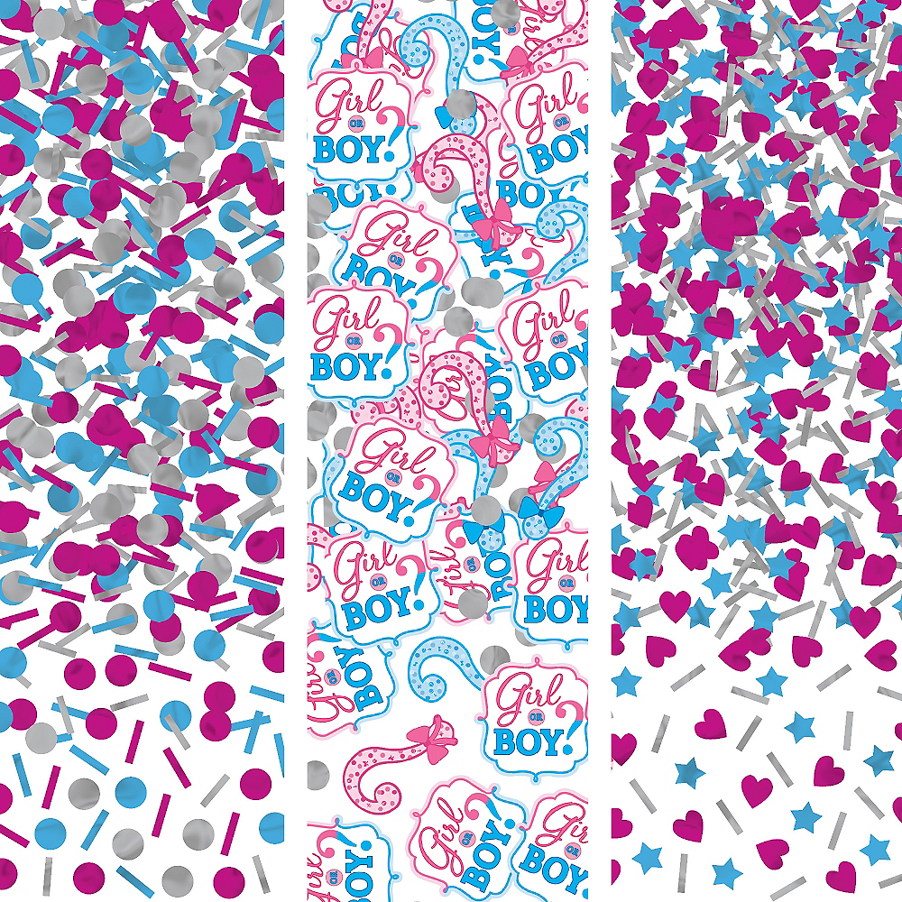 Girl or Boy Gender Reveal Confetti Image #1
