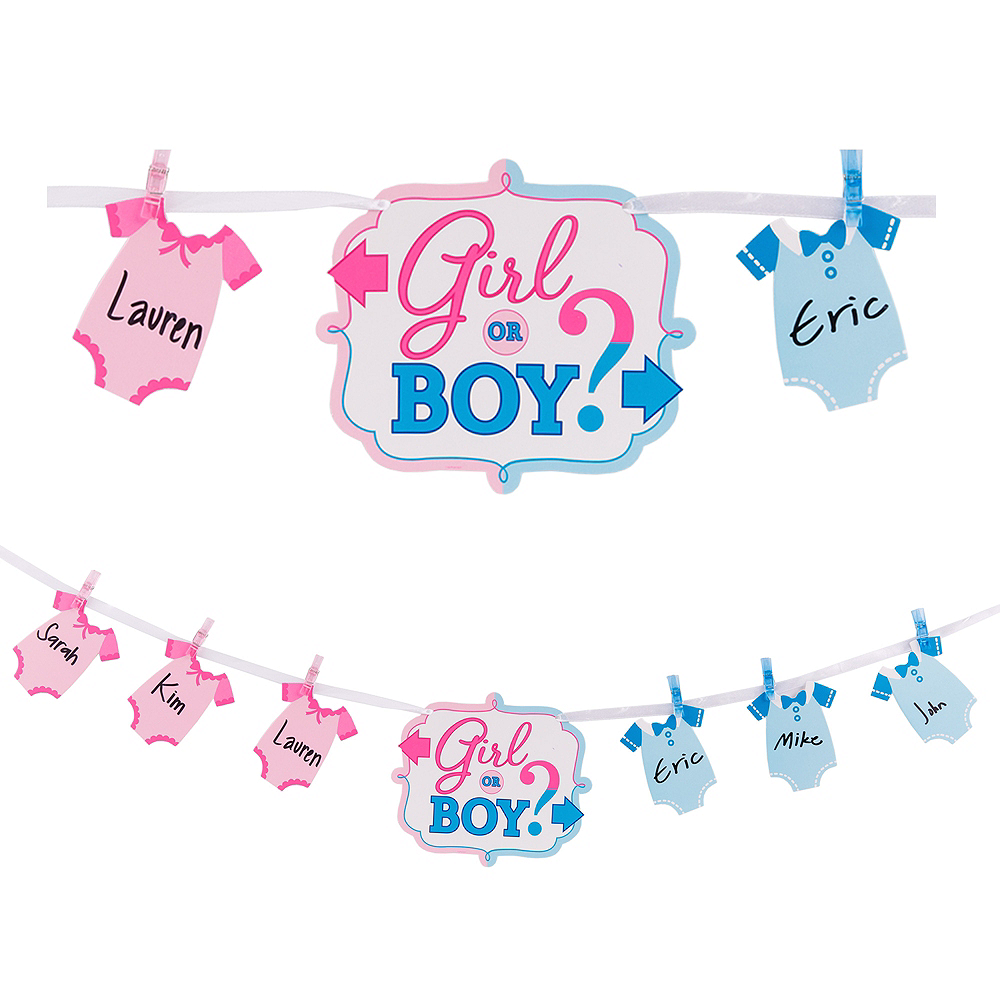 Girl or Boy Gender Reveal Banner Activity Kit Image #1