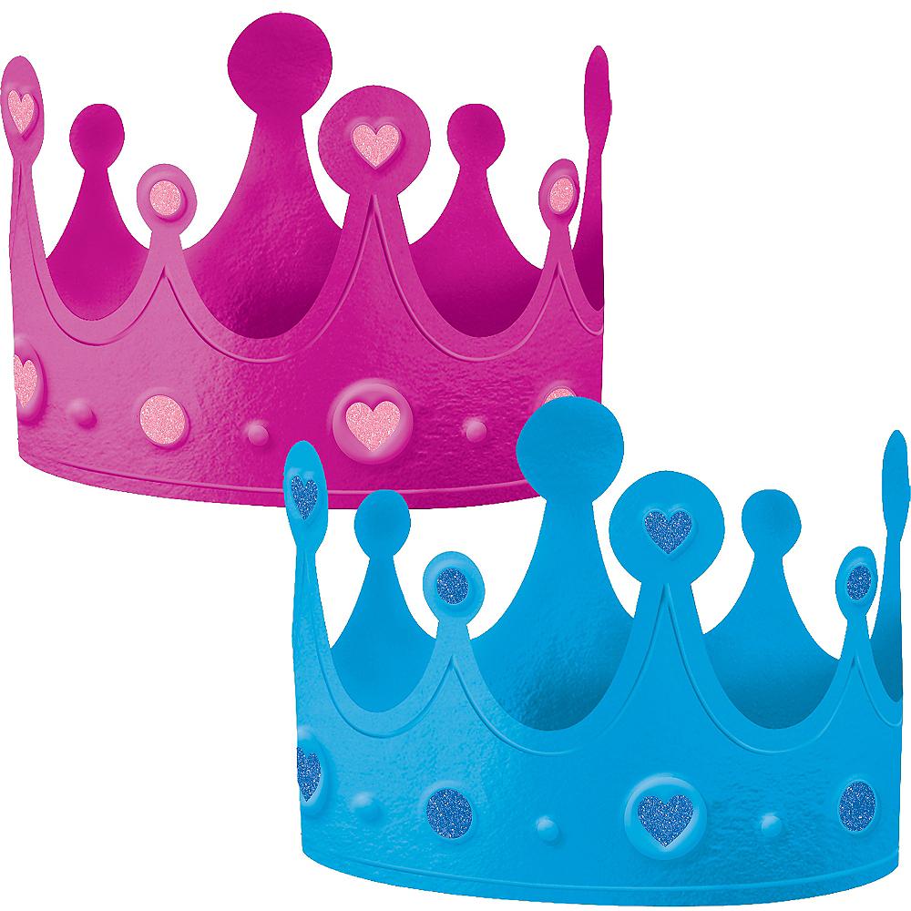 Girl or Boy Gender Reveal Crowns 2ct Image #1