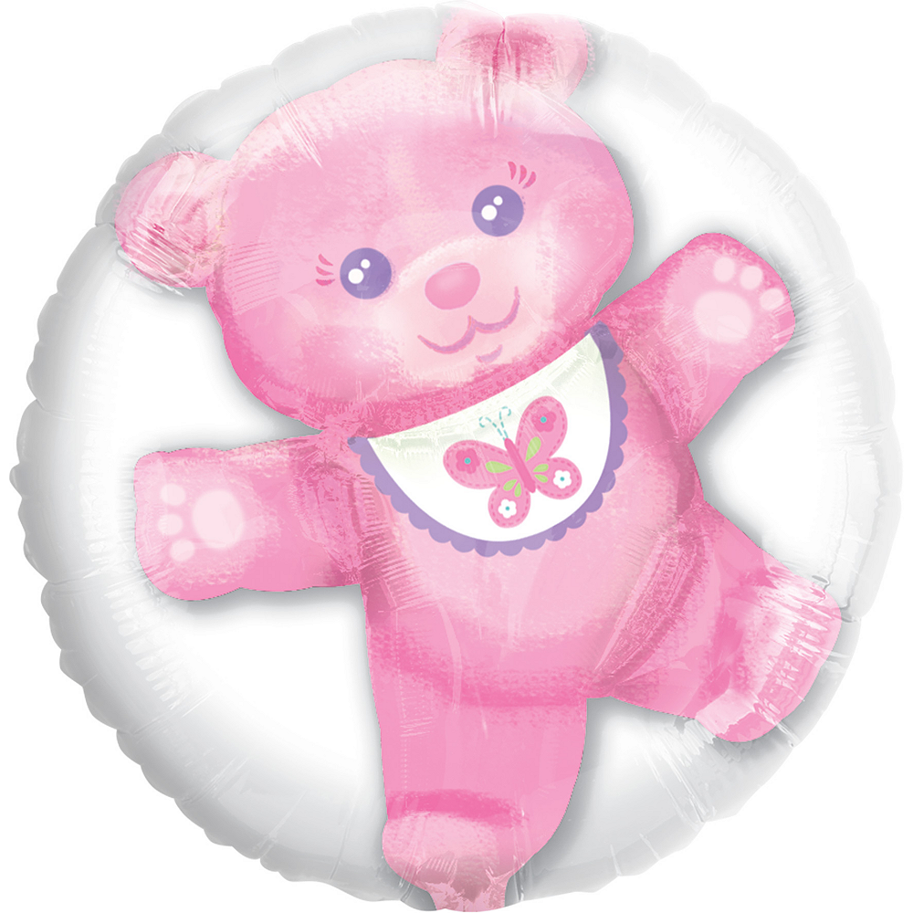 Pink Bear Balloon - Insider, 24in Image #1