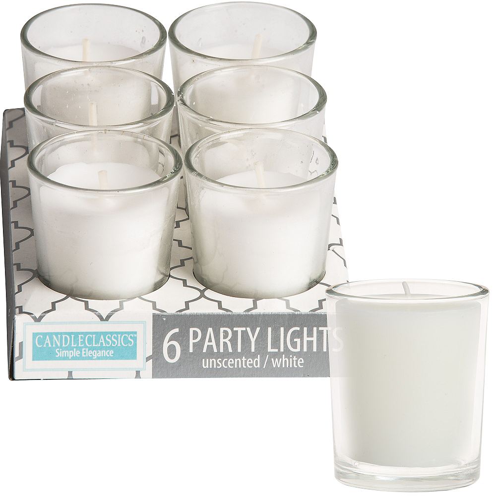 Mini White Votive Candles 6ct Image #1