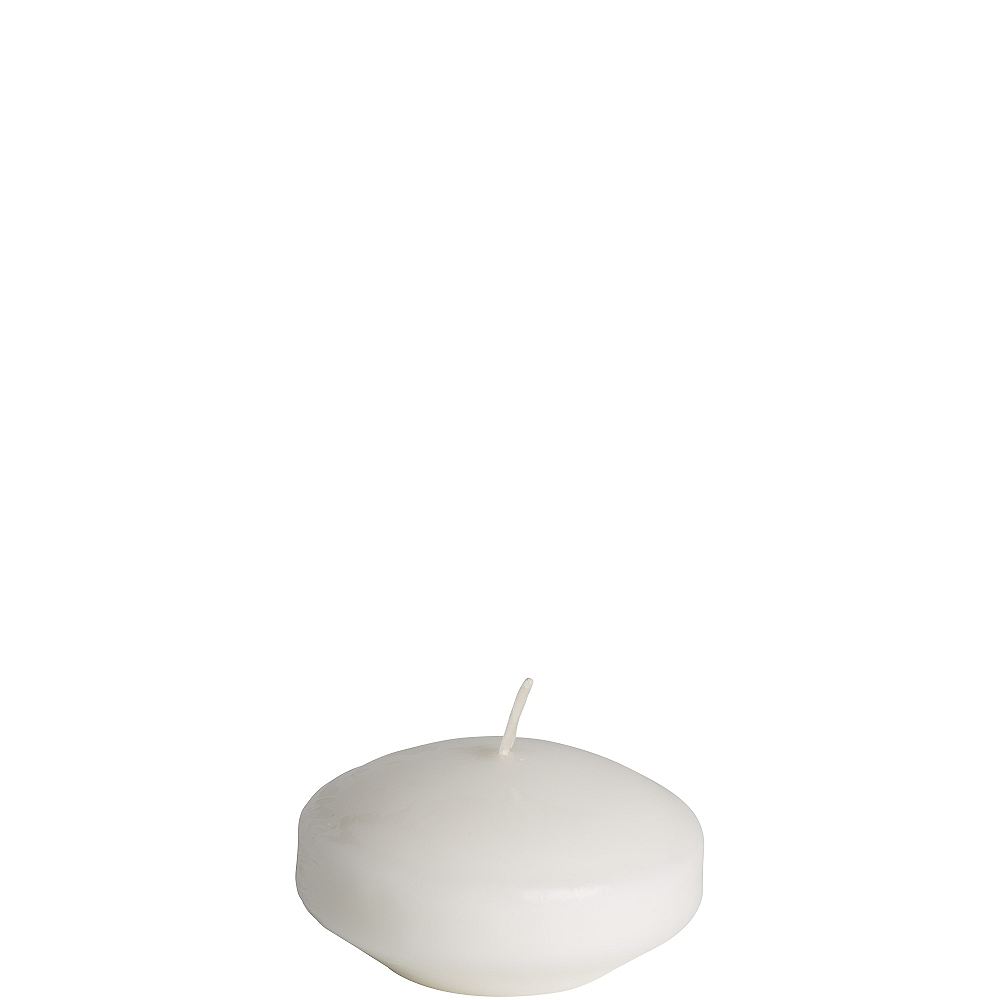 Large White Floating Candle Image #1