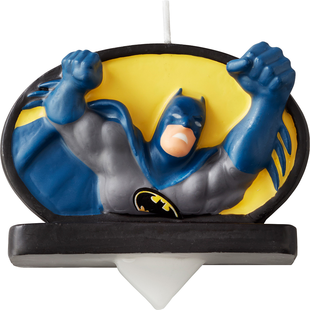 Wilton Batman Birthday Candle Image 1