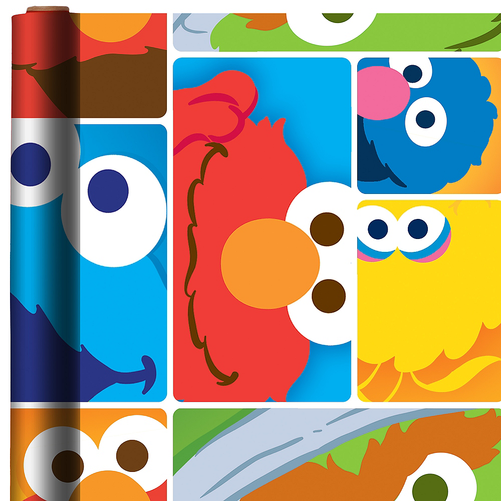 Sesame Street Gift Wrap Image #1