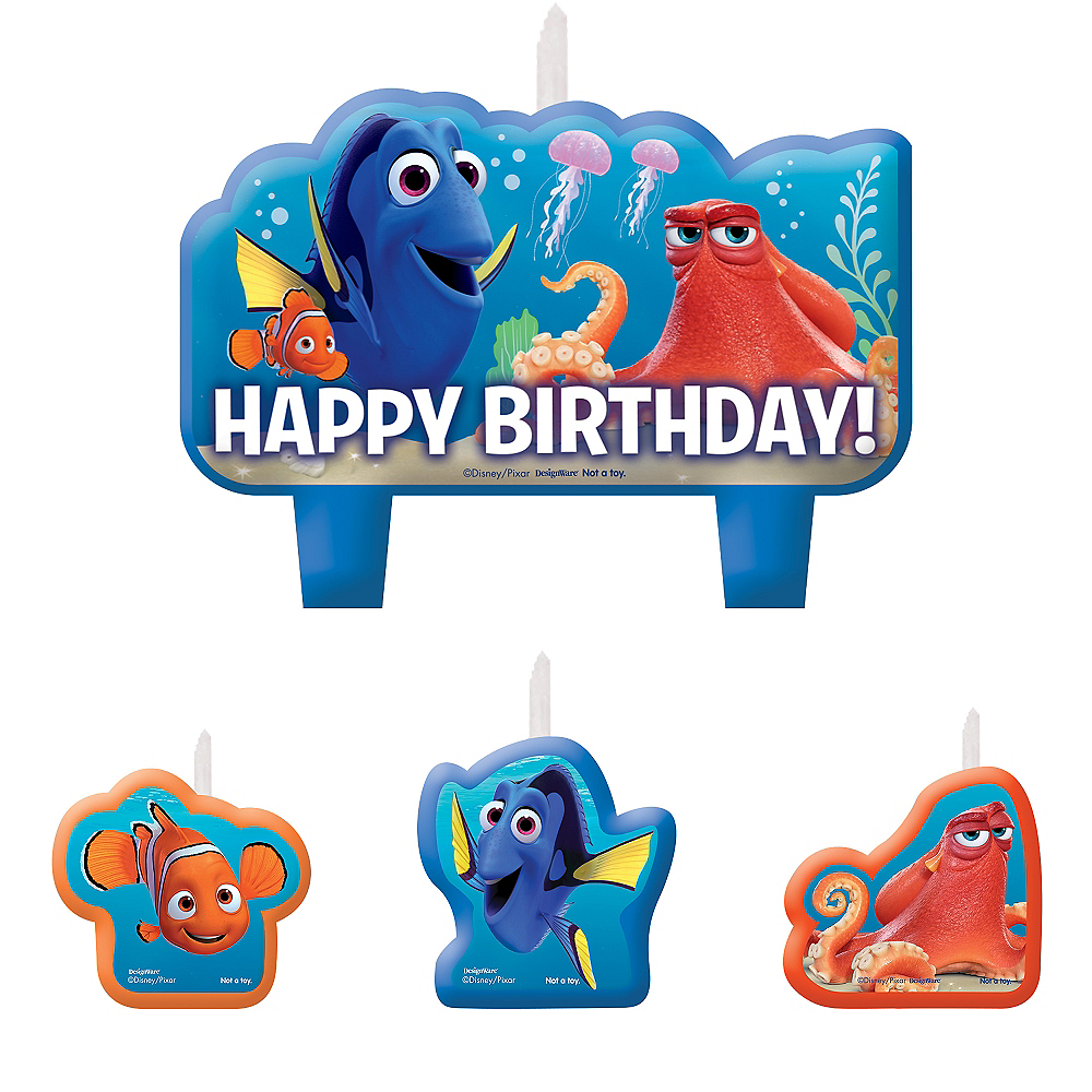 Finding Dory Birthday Candles 4ct Image #1