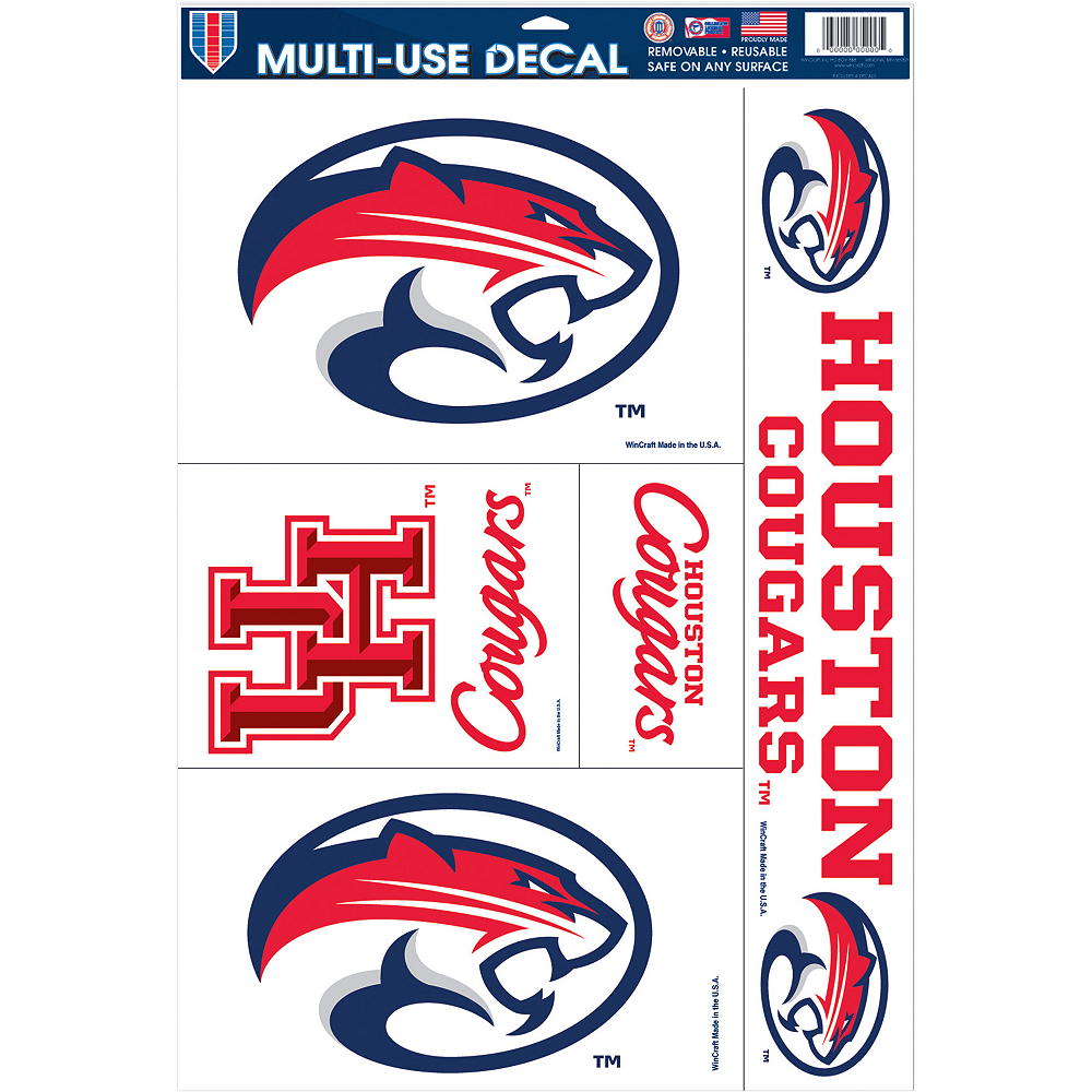 Houston Cougars Decals 5ct Image #1
