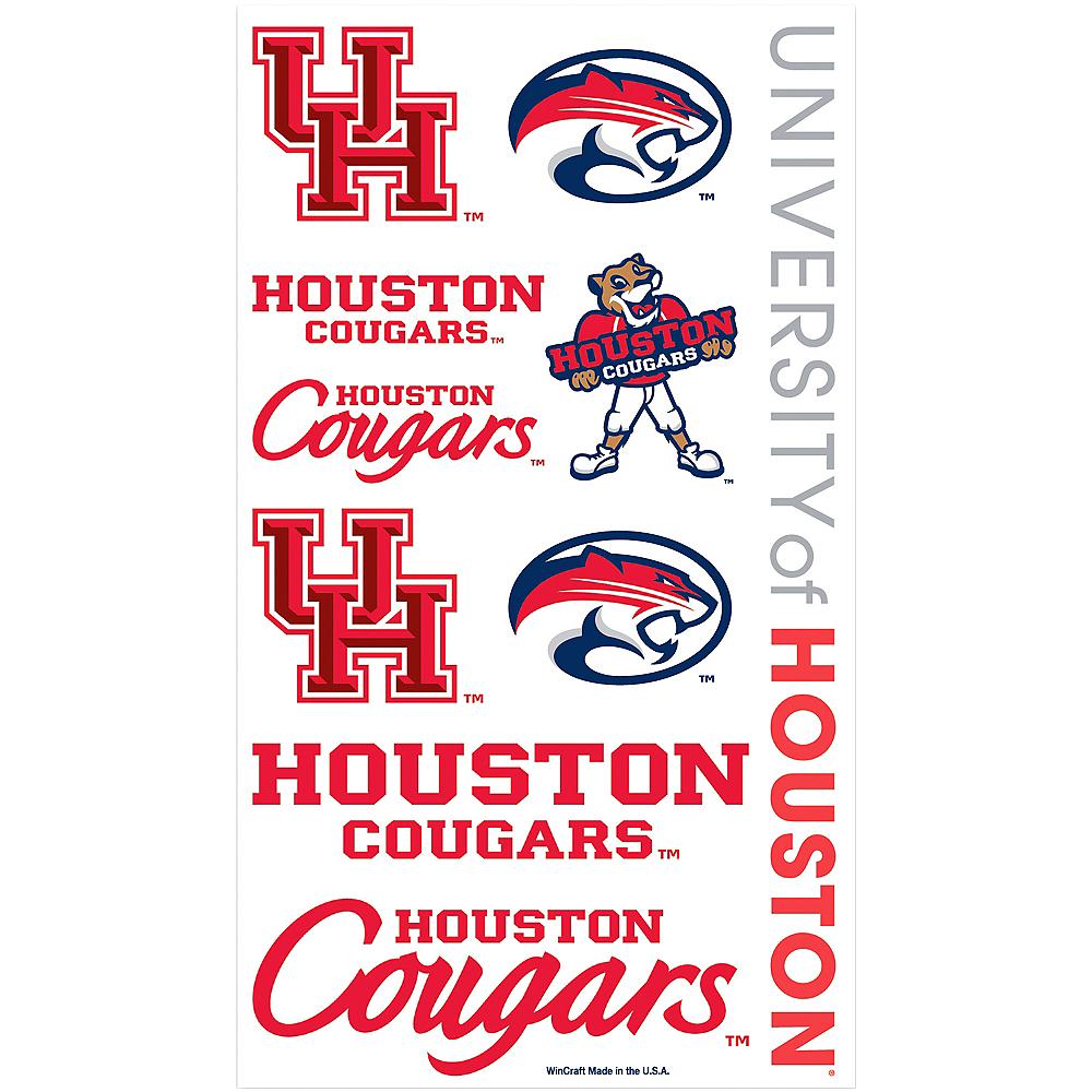 Houston Cougars Tattoos 10ct Image #1