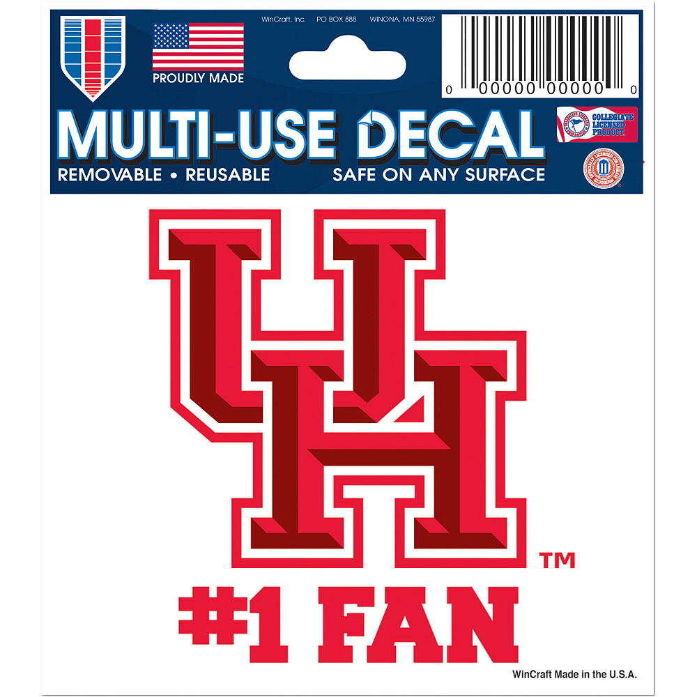 Houston Cougars #1 Fan Decal Image #1