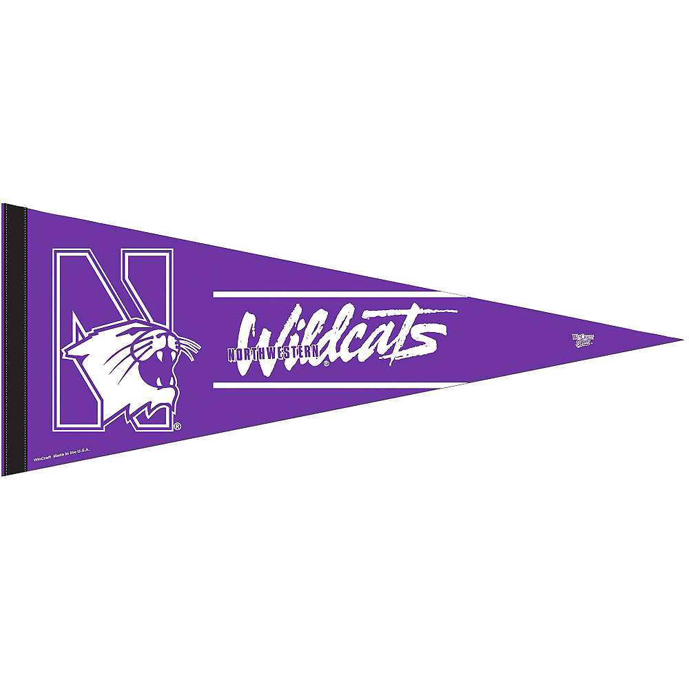 Northwestern Wildcats Pennant Flag Image #1