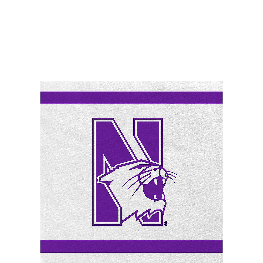 Northwestern Wildcats Beverage Napkins 24ct Image #1