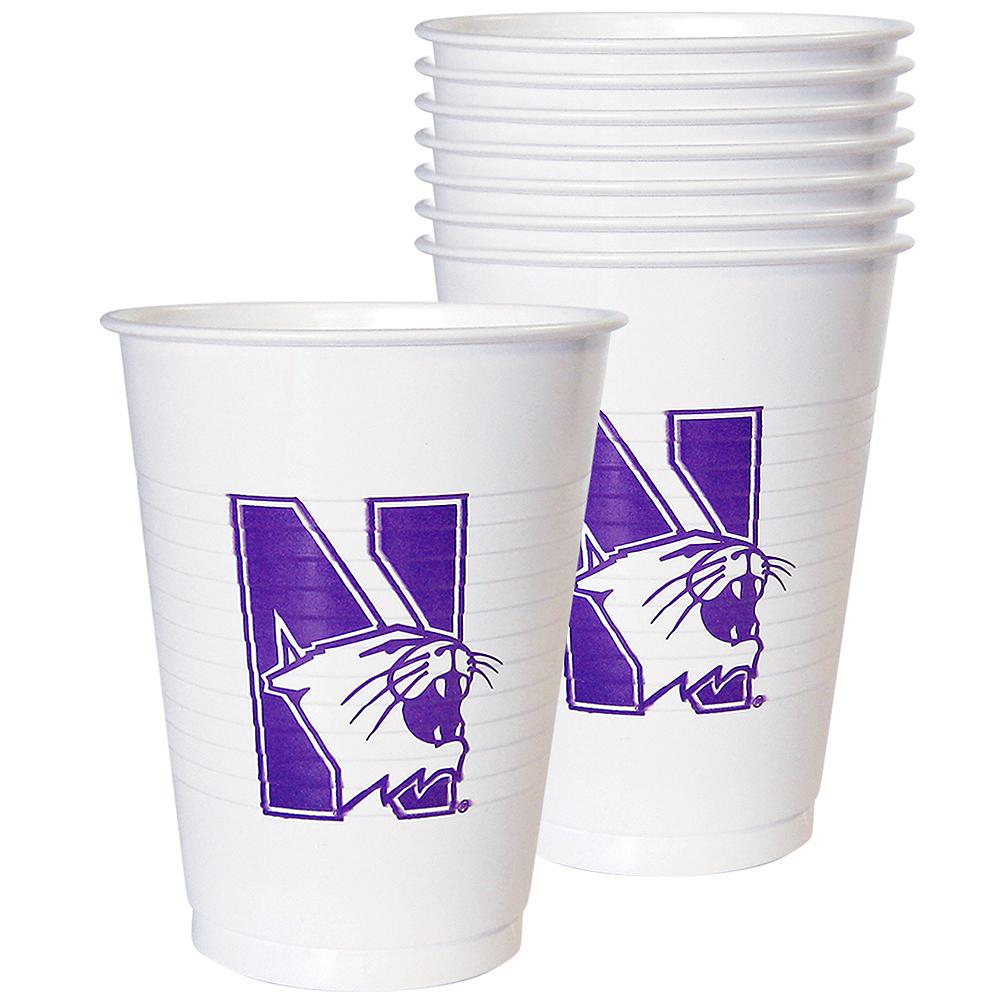 Northwestern Wildcats Plastic Cups 8ct Image #1