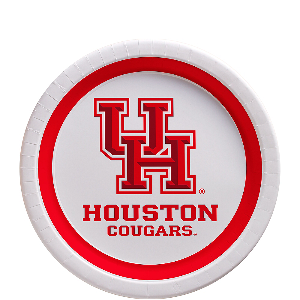 Houston Cougars Dessert Plates 12ct Image #1