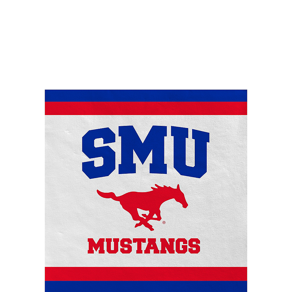 SMU Mustangs Beverage Napkins 24ct Image #1