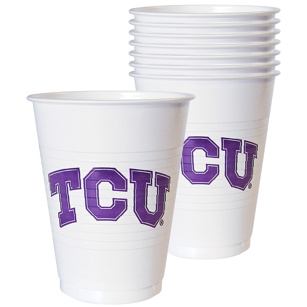 TCU Horned Frogs Plastic Cups 8ct Image #1