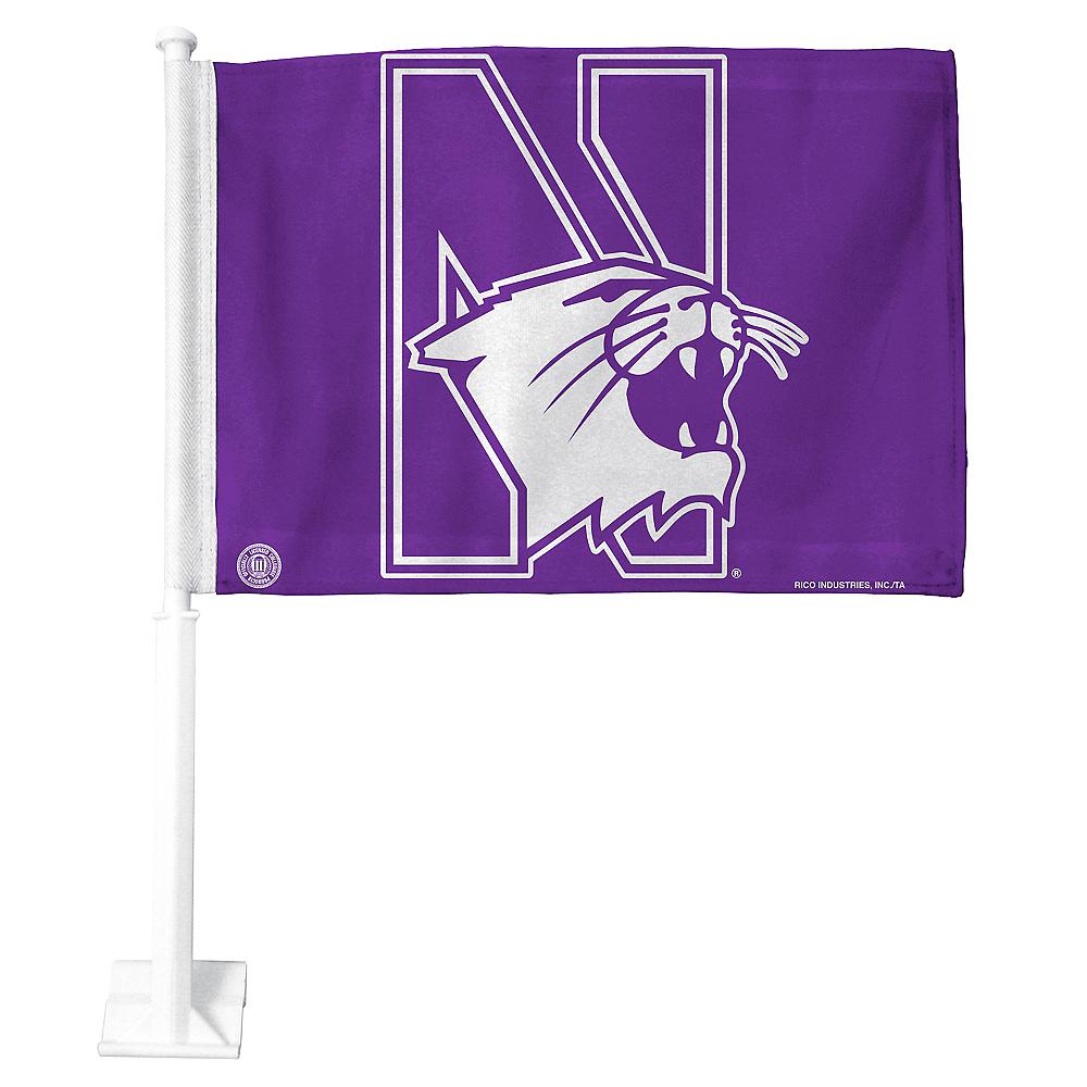 Northwestern Wildcats Car Flag Image #1