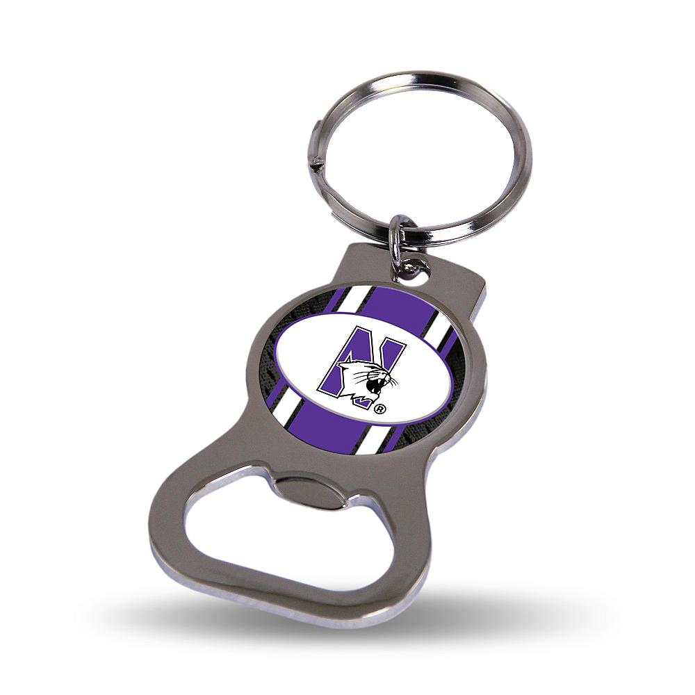 Northwestern Wildcats Bottle Opener Keychain Image #1