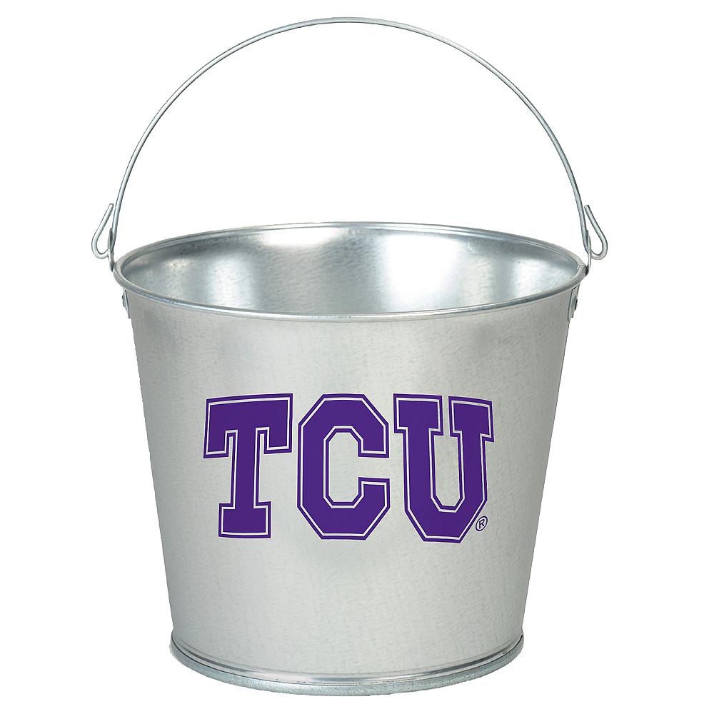 TCU Horned Frogs Galvanized Bucket Image #1