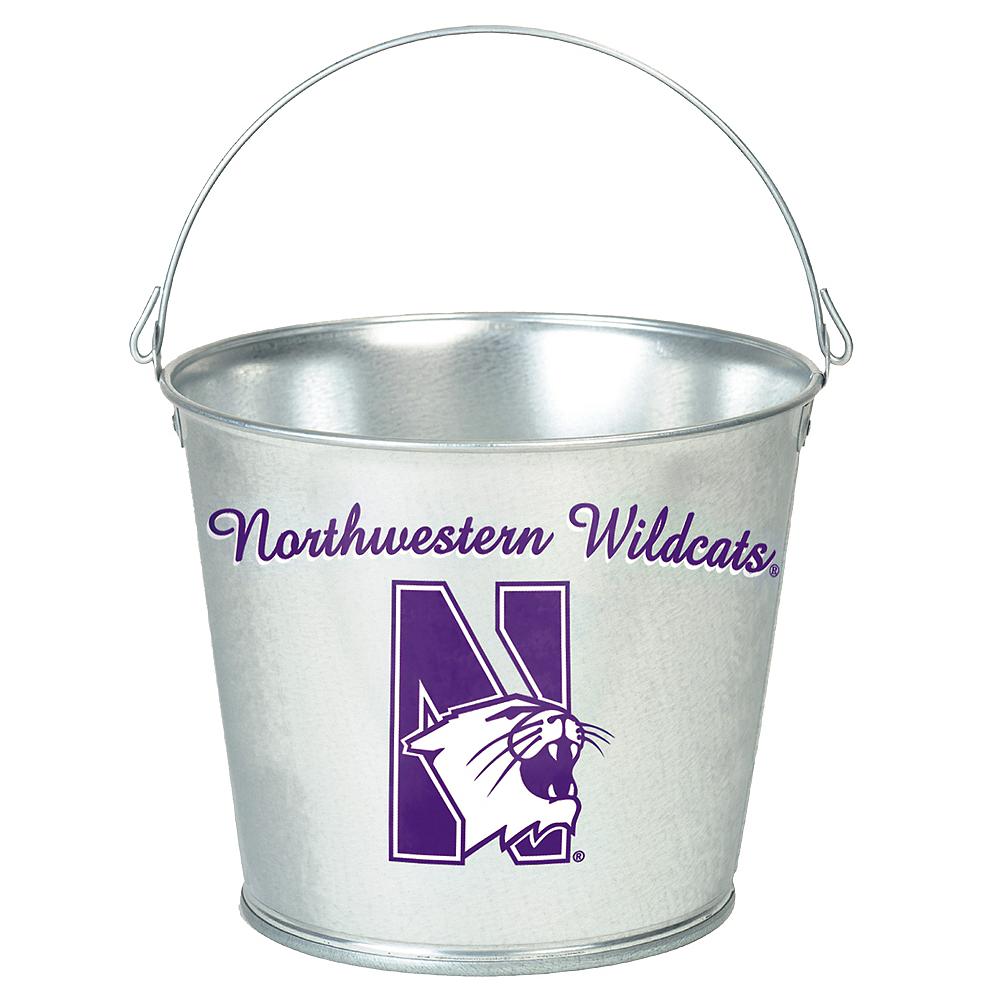 Northwestern Wildcats Galvanized Bucket Image #1