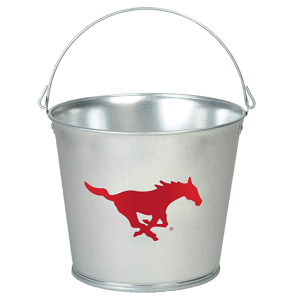 SMU Mustangs Galvanized Bucket Image #1