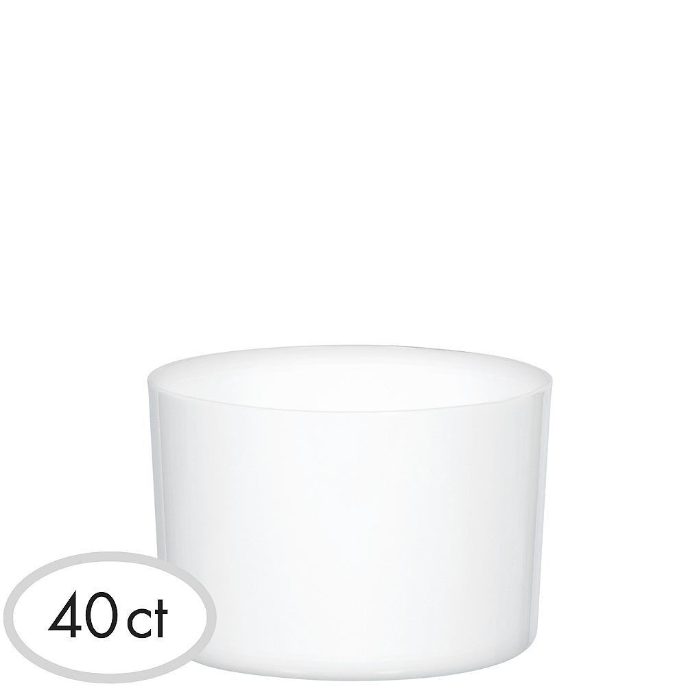 Mini White Plastic Bowls 40ct Image #1
