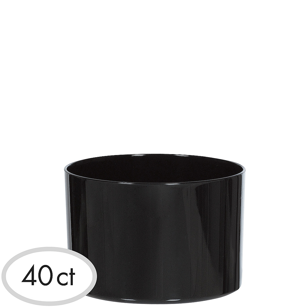 Mini Black Plastic Bowls 40ct Image #1