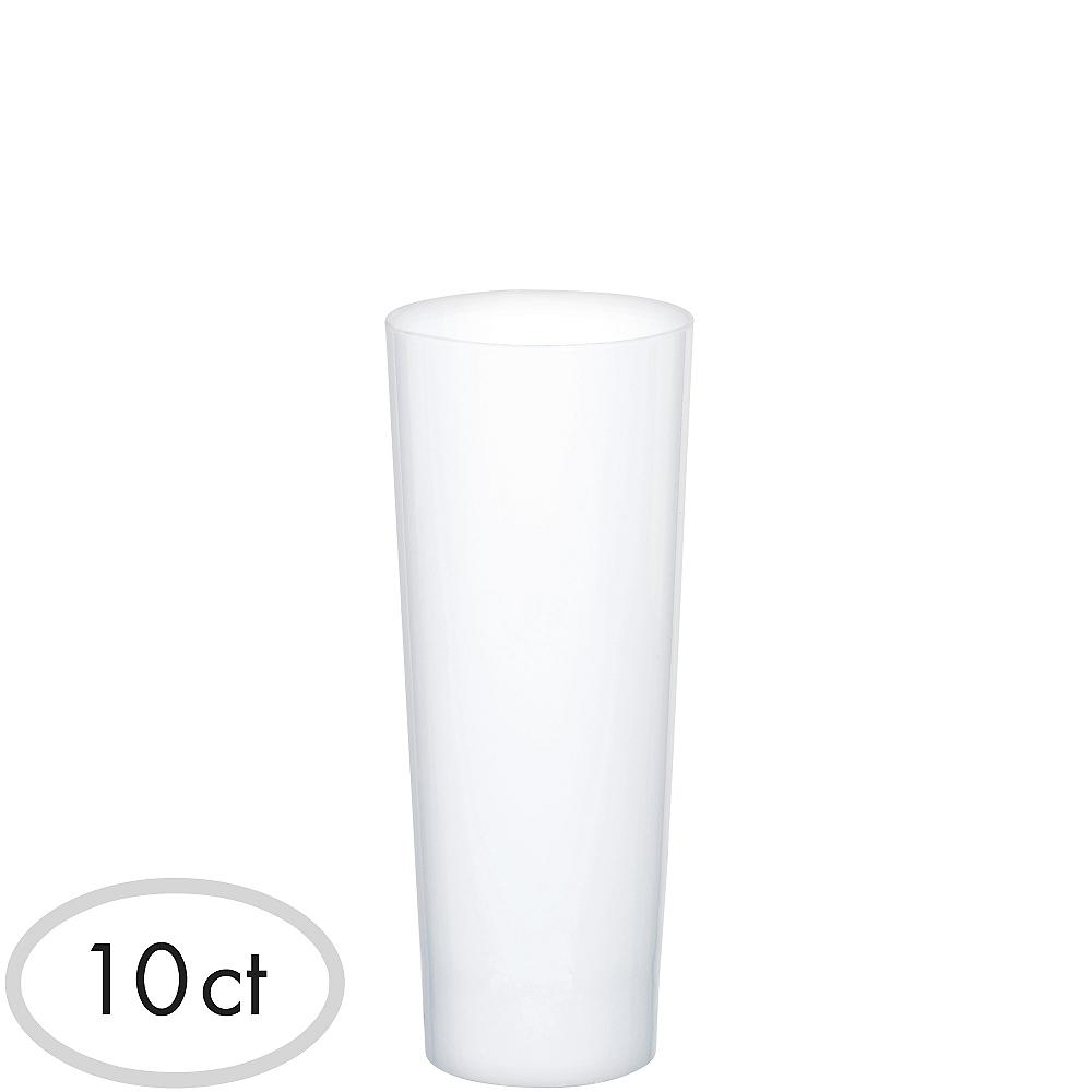 Mini White Plastic Cordial Glasses 10ct Image #1