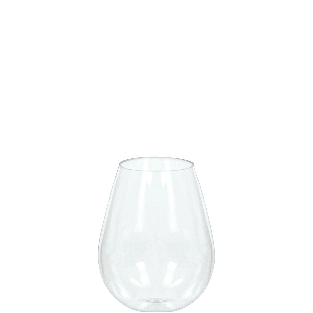 Mini Clear Plastic Stemless Wine Glasses 10ct Party City