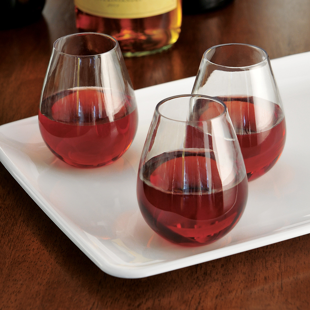 Nav Item for Mini CLEAR Plastic Stemless Wine Glasses 10ct Image #2