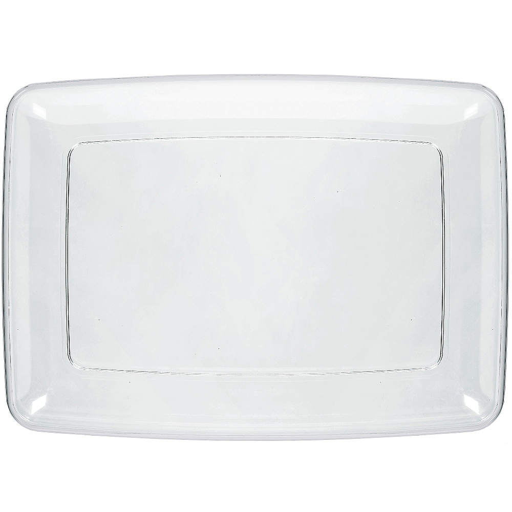 Nav Item for CLEAR Plastic Rectangular Platter Image #1