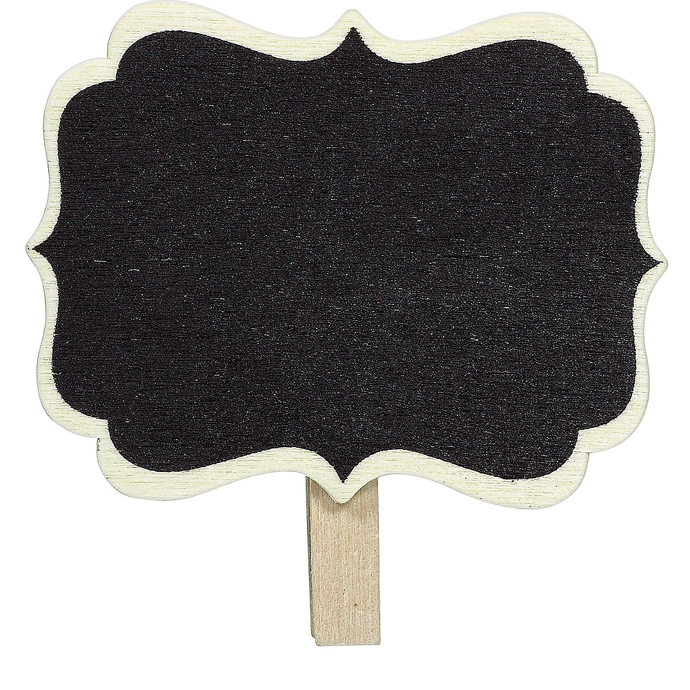 Scroll Chalkboard Label Clips 8ct Image #1