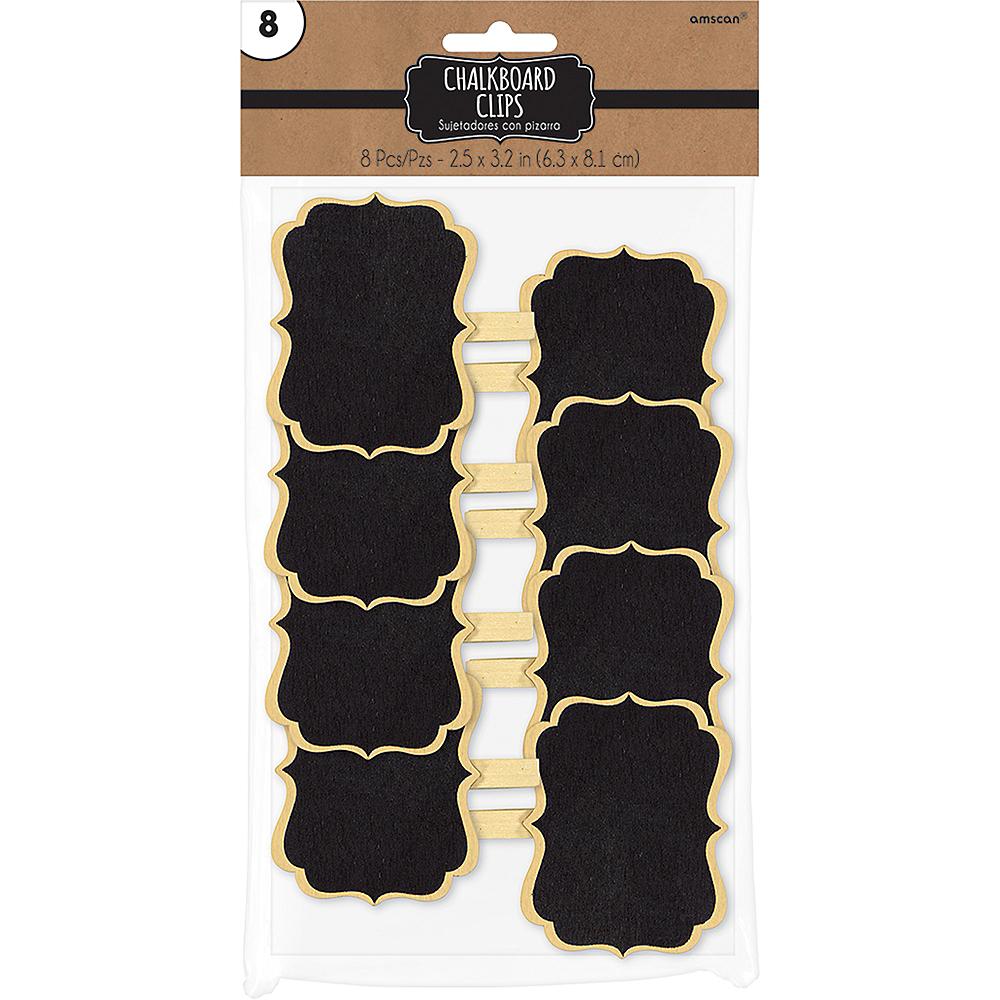 Scroll Chalkboard Label Clips 8ct Image #2
