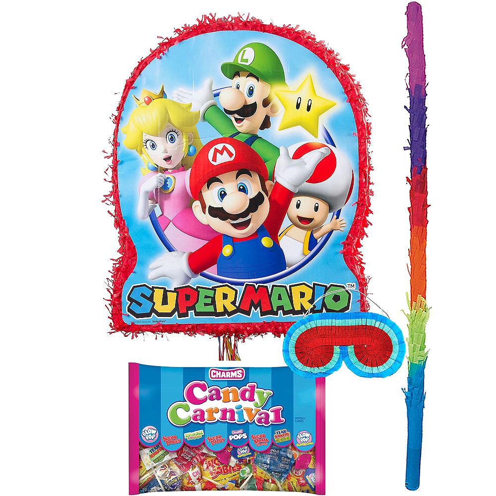 Pull String Super Mario Pinata Kit Image #1