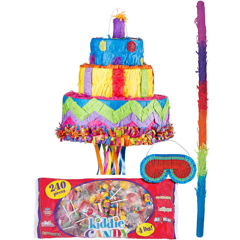 Amazing Pull String Birthday Cake Pinata Kit Party City Funny Birthday Cards Online Elaedamsfinfo