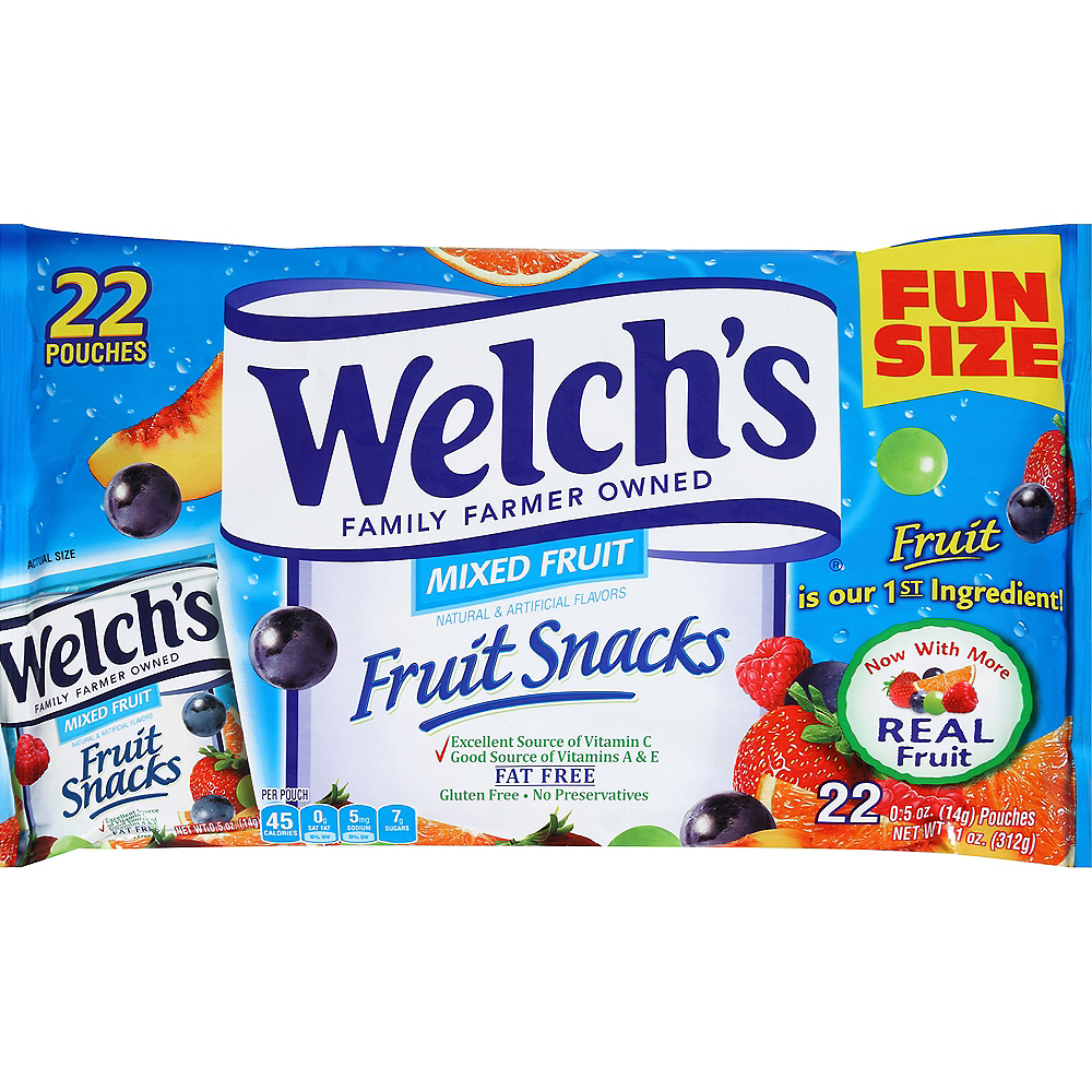 Welch's Mixed Fruit Fruit Snacks Pouches 22ct Image #1