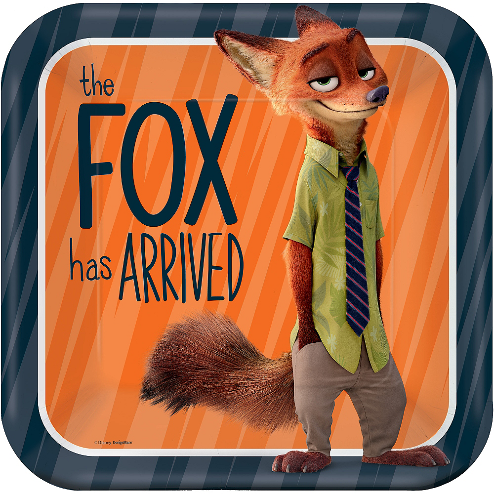 Zootopia Lunch Plates 8ct Image #1