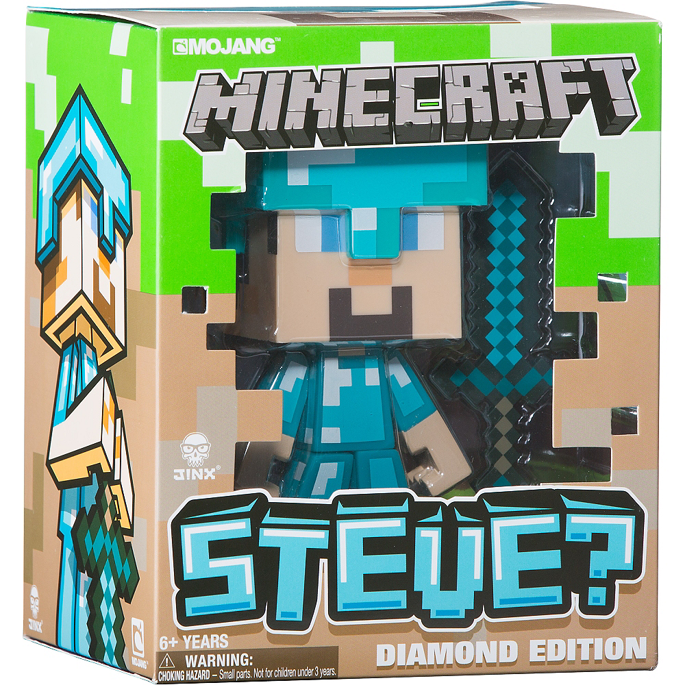 Steve Action Figure Playset 3pc - Minecraft | Party CitySteve Minecraft Costume Party City