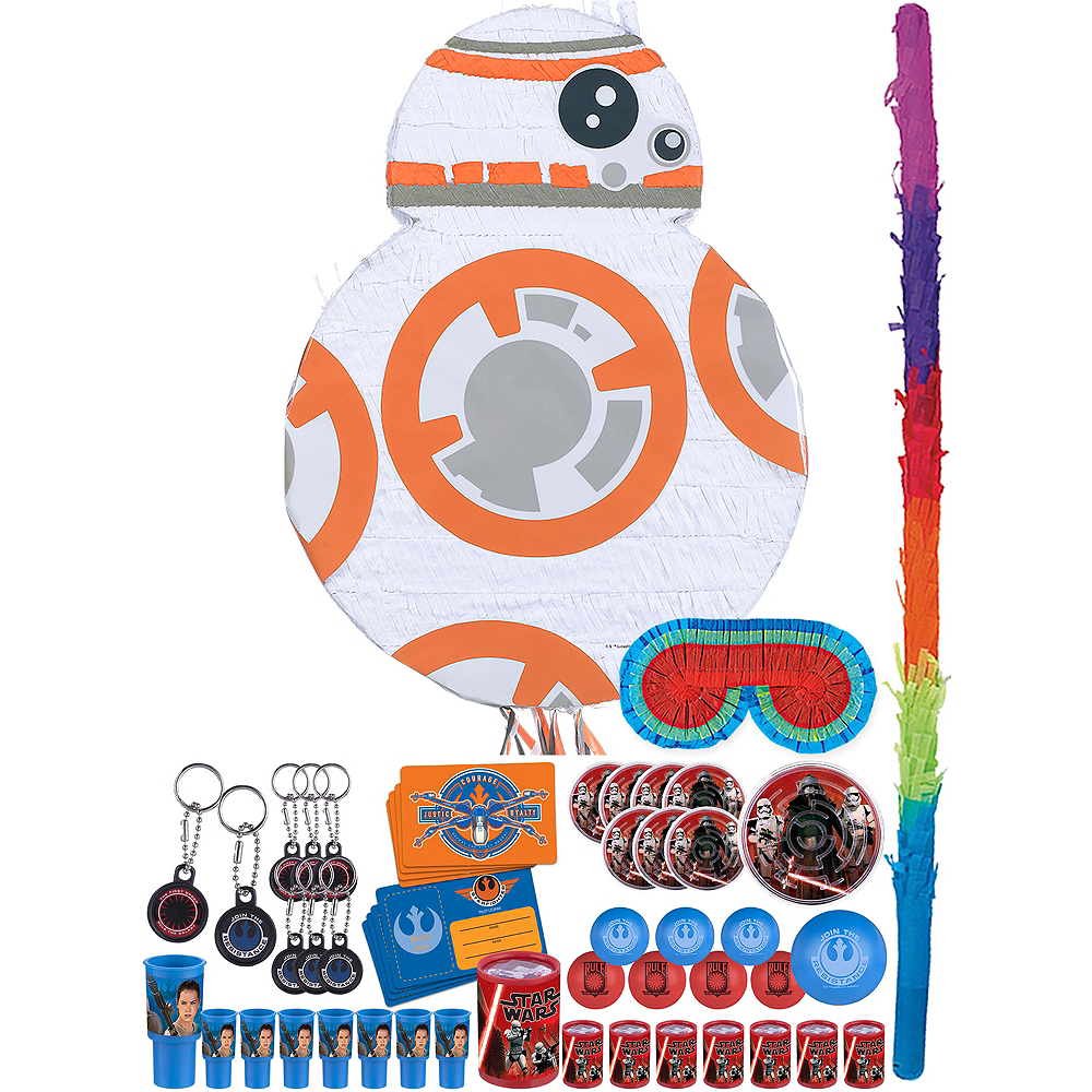 BB-8 Pinata Kit with Favors - Star Wars 7 The Force Awakens Image #1