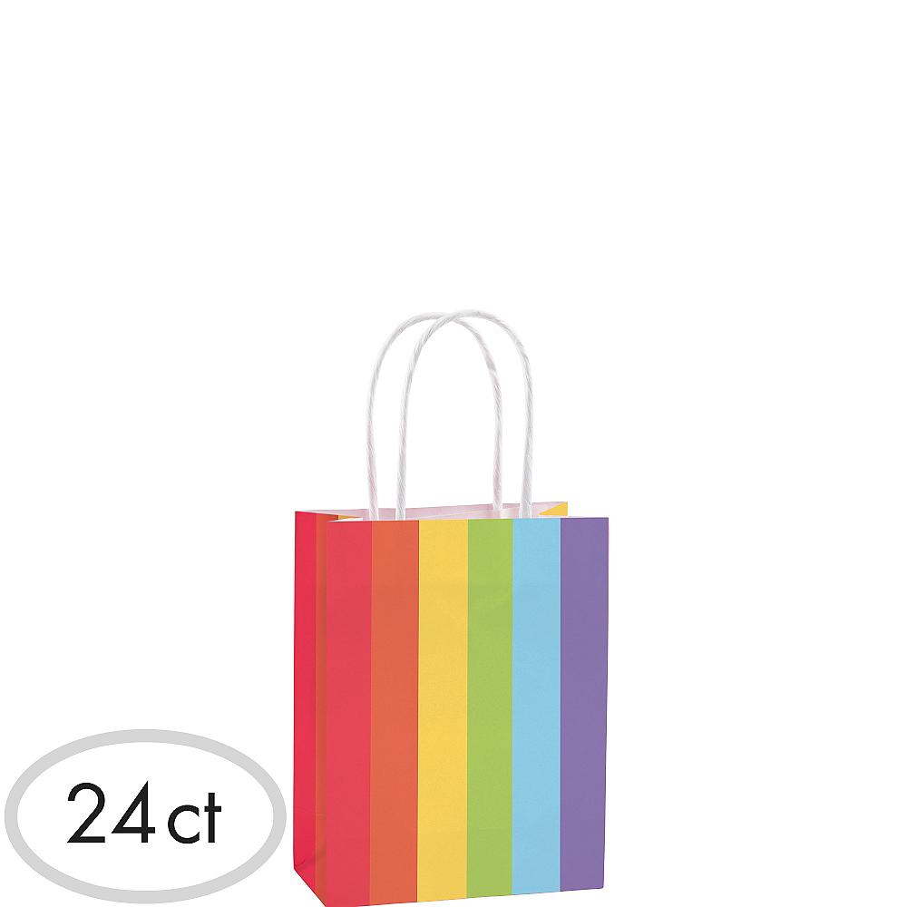 Small Rainbow Kraft Bags 24ct Image #1