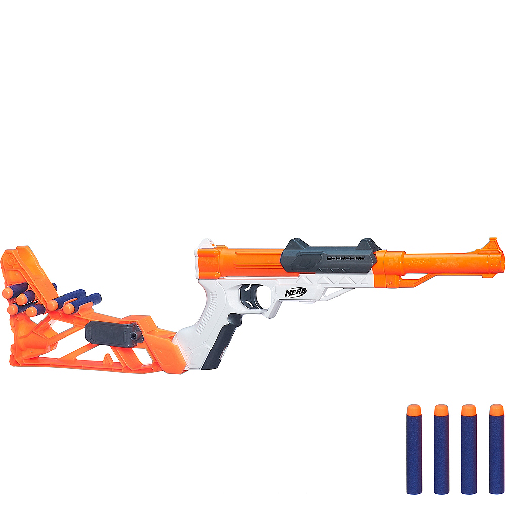 N-Strike Sharpfire 6-in-1 Nerf Gun Playset 13pc Image #1