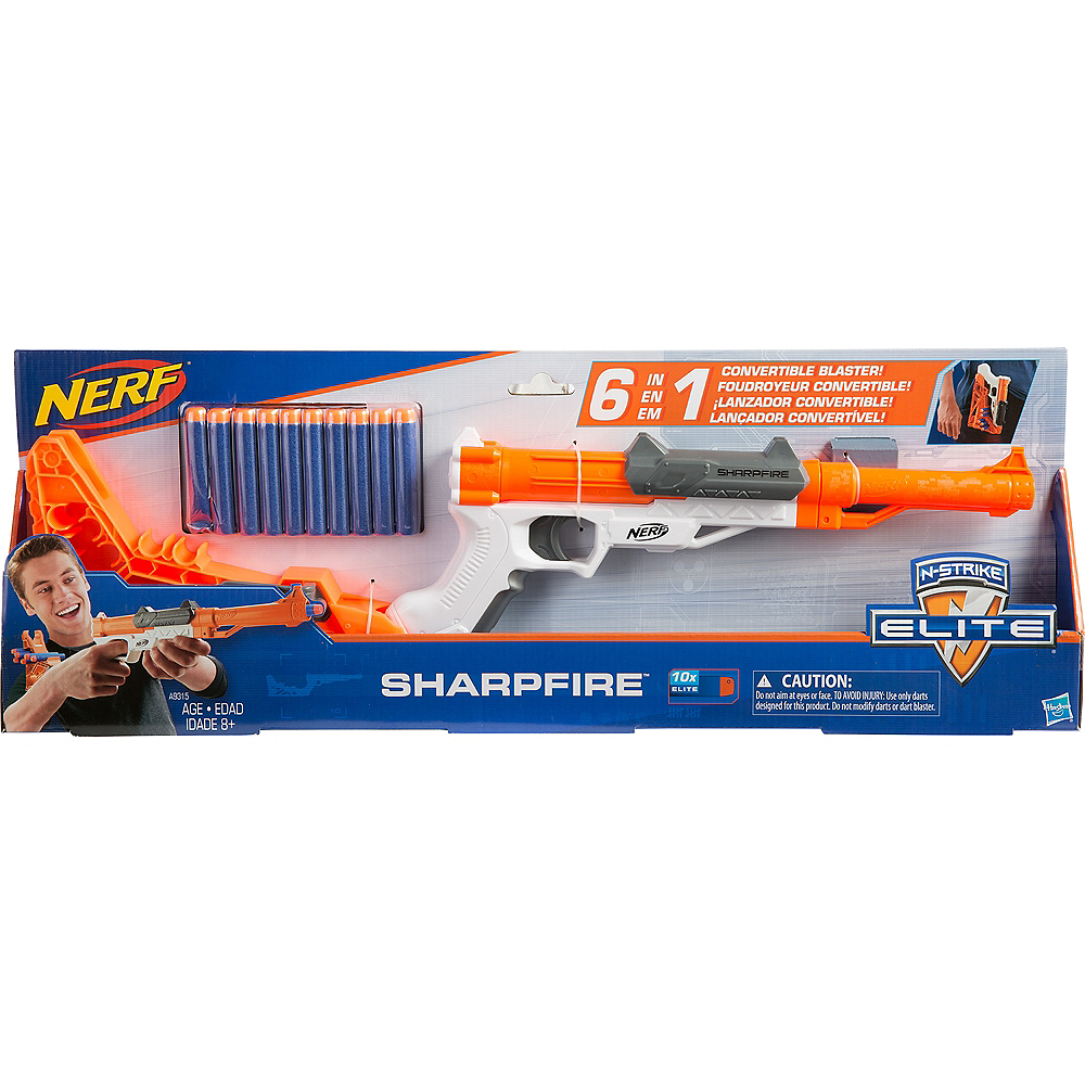 N-Strike Sharpfire 6-in-1 Nerf Gun Playset 13pc Image #2
