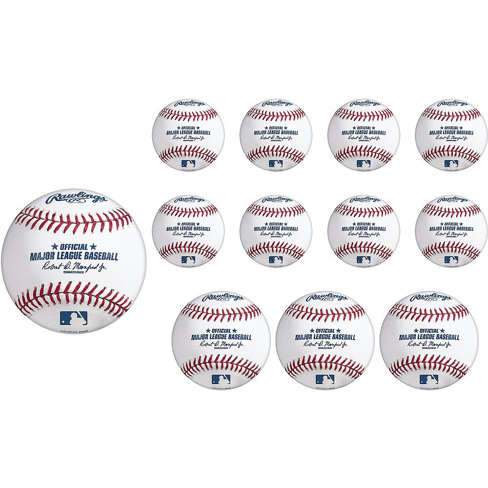 MLB Baseball Cutouts, 12ct Image #1